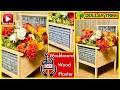 DIY Dollar Tree Washboard Flower Bed - OutDoor Porch Decor - All Seasons - Farmhouse Rustic Decor
