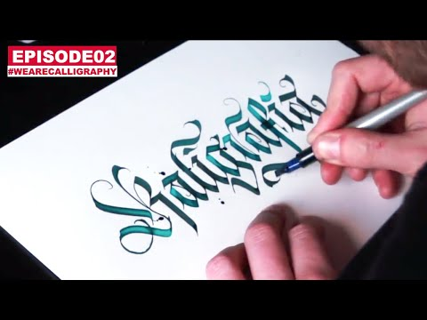 WLK ANSWERING QUESTIONS IN MODERN CALLIGRAPHY ( WE ARE CALLIGRAPHY 02 )