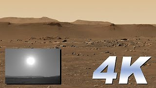 Primera imagen 4K de Perseverancia y primer atardecer en Marte
