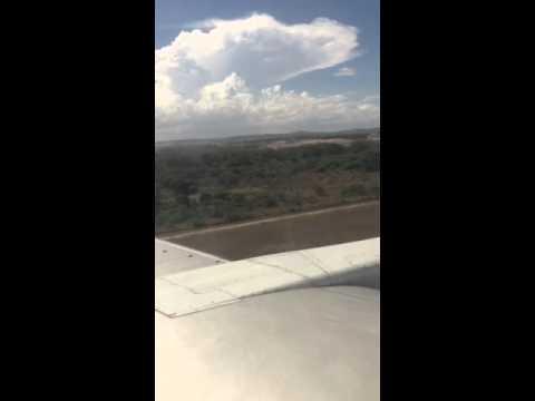 Landing at Moi international airport