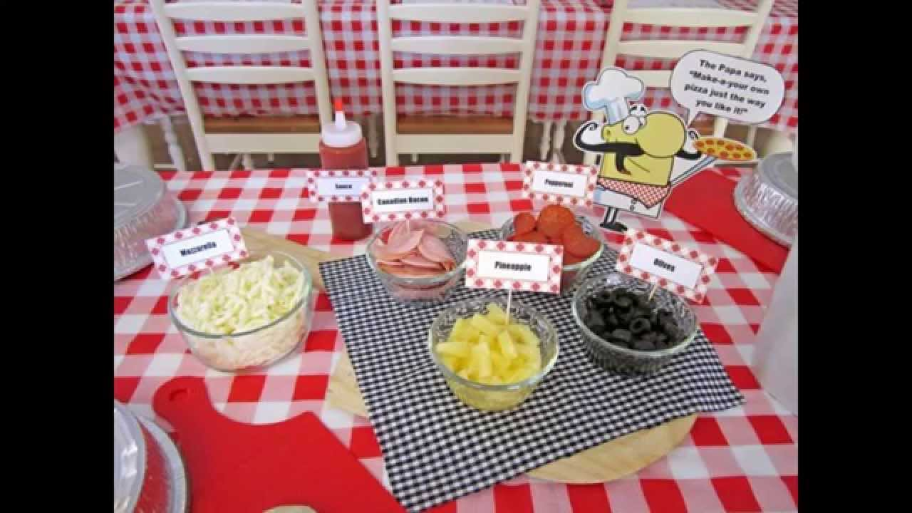 Awesome Pizza party decorations ideas - YouTube