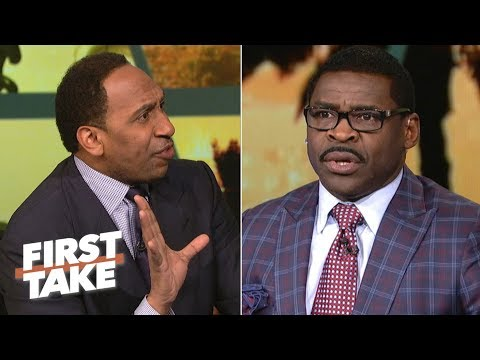Stephen A. Smith Has Heated Argument With Michael Irvin | First Take | March 24, 2017