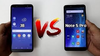 Samsung Galaxy J8 Vs Redmi Note 5 Pro Comparison And SpeedTest |Camera,Battery,Performance |Hindi