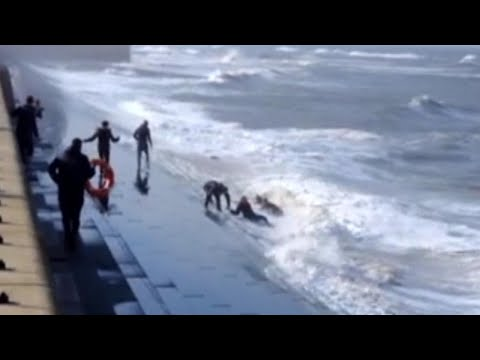 Good Samaritans Fight Dangerous Waves While Trying to Help Others Stuck in Water