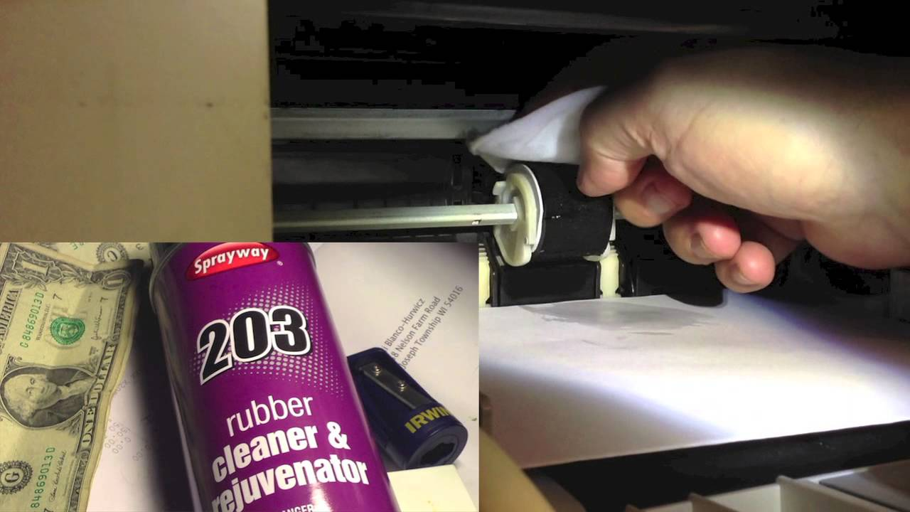 Renew your printer pickup roller! No more paper jams! Don't replace:  rejuvenate! An easy fix!