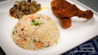 chicken fried rice preparation