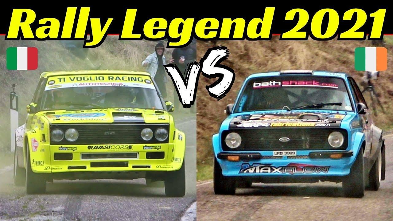 Paolo Diana vs Frank Kelly - Rally Legend 2021 San Marino - Virtual Comparison + Split-Screen Show!