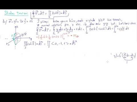 122) Kalkülüs 3 - Stokes Teoremi 2 , örnek