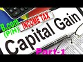 Income From Capital Gain   Income tax lectures for B.COM 2ND YEAR   part 1 of 4   SOL AND REGULAR  