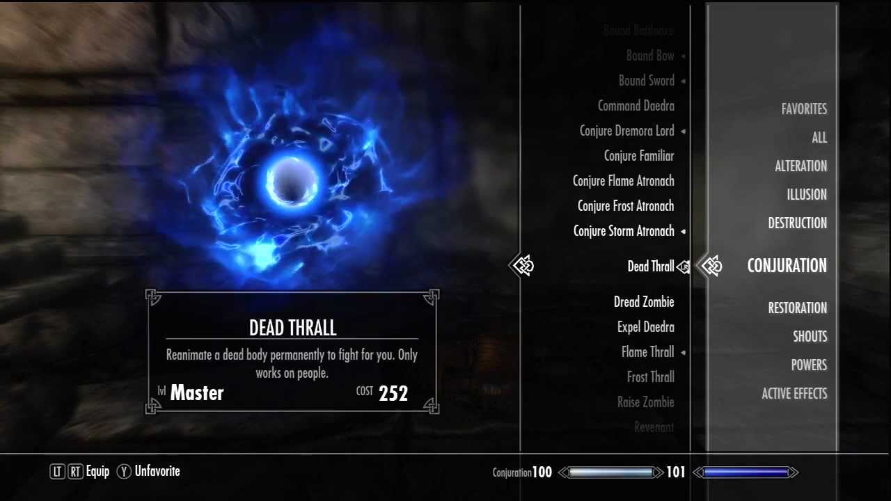 Conjuration Ritual Spell - The Elder Scrolls V: Skyrim ...