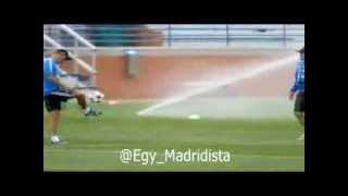 Ancelotti and Zidane rondos before Real Madrid training on 9/8/2013