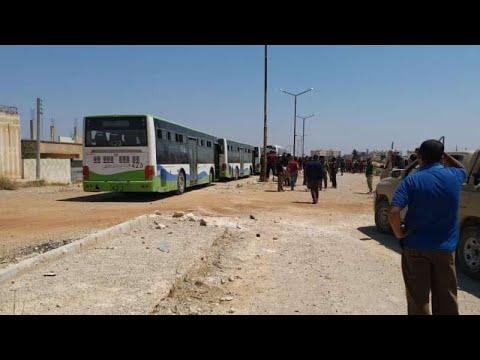 بدء خروج الدفعة الأولى من مهجري درعا الى الشمال السوري  - نشر قبل 4 ساعة