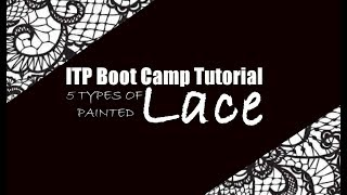 ITP Boot Camp LACE TUTORIAL
