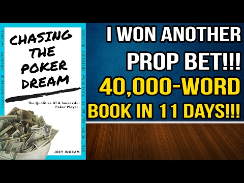 I AM AN AUTHOR!! 40,000 Words in 11 Days for $2,000 Prop Bet VICTORY!!!!