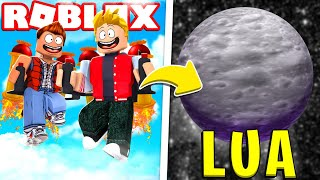 WE FLY to the moon with a Jet Pack on ROBLOX!