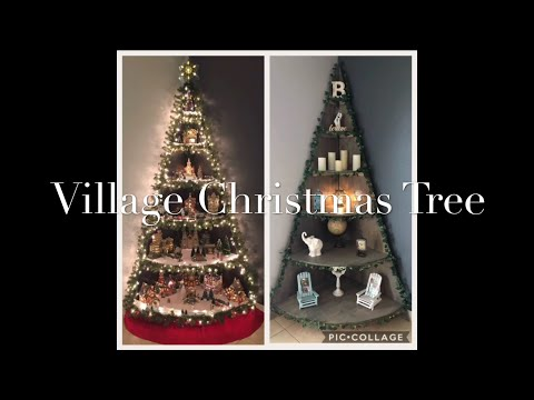 Diy Village Christmas Tree Stand Tutorial Youtube