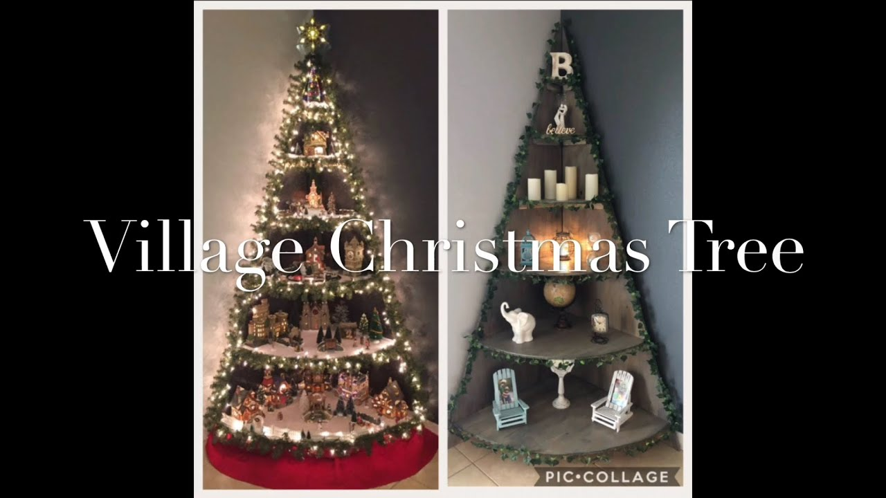 diy village christmas tree stand tutorial