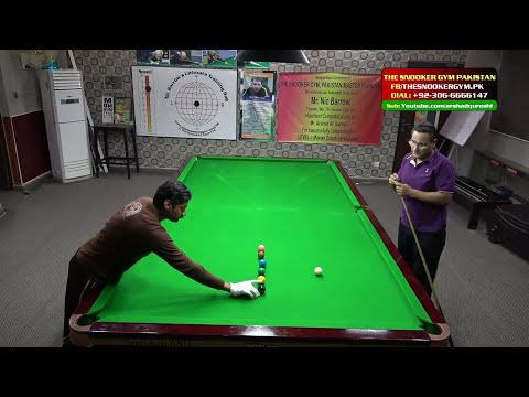 English Language Video, Snooker Coaching / Training Potting Practice Around Black Ball