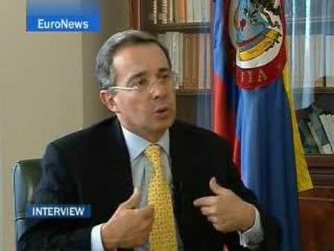 EuroNews - Interview - Alvaro Uribe