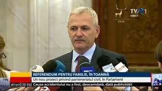 Dragnea: Referendumul pentru redefinirea familiei ar putea avea loc pe 30 septembrie