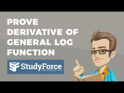 📚 How to prove the derivative of the general logarithmic function