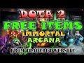 Dota 2 free items - free Arcana