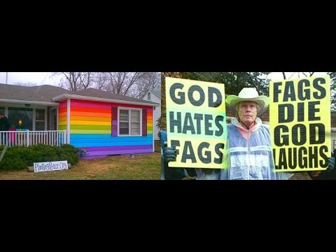 Rainbow Equality House next to Westboro Baptist Church (Topeka, KS)