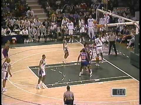Chris Mills Hits Turn-Around Game Winner (1994)