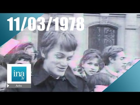 20h Antenne 2 du 11 mars 1978 - Claude François est mort | nArchive INA