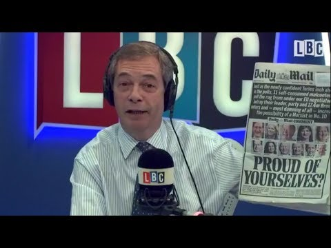 The Nigel Farage Show - LBC - Daily Mail Front Page - Brexit - 14/12/2017