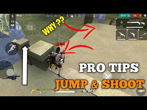 FREE FIRE | HOW TO JUMP AND SHOOT SAME TIME| PRO TIPS AND TRICK FOR JUMP SHOOT