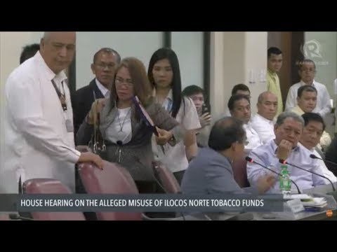House panel detains 6 Ilocos Norte officials for 'dismissive answers' in tobacco funds probe