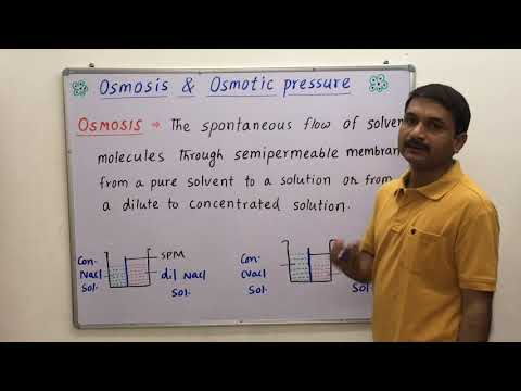 Osmosis  Osmotic Pressure  Berkeley Hartley  Method