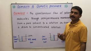 Osmosis / Osmotic Pressure / Berkeley Hartley  Method