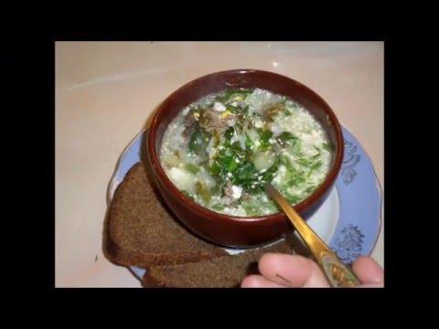 Зелёный борщ.Очень вкусное и полезное блюдо.