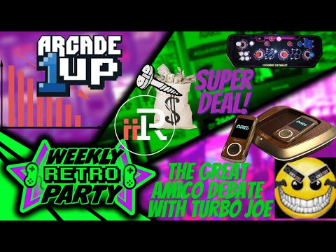 WRP: Arcade1up is it over, iiRcade and AtGames smells blood in the water. Amico with Turbo Joe. from Ur Average Gamer