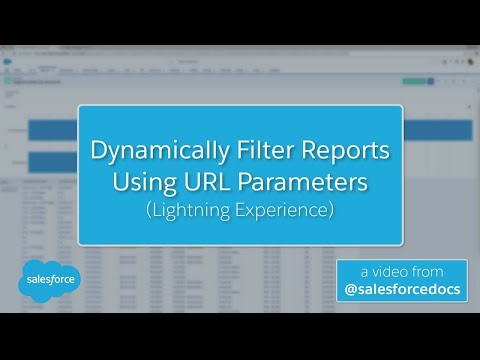Dynamically Filter Reports Using URL Parameters (Lightning Experience) | Salesforce