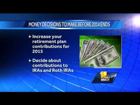 Make key money decisions before year ends