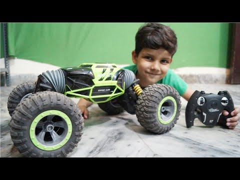 Kids Play With Toys Stunt Car Unboxing & Tasting With Remote Control