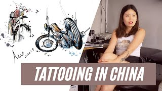 Tattoo Artist - Max - based in Xi'an, China - filmed in Singapore - swiftleigh media