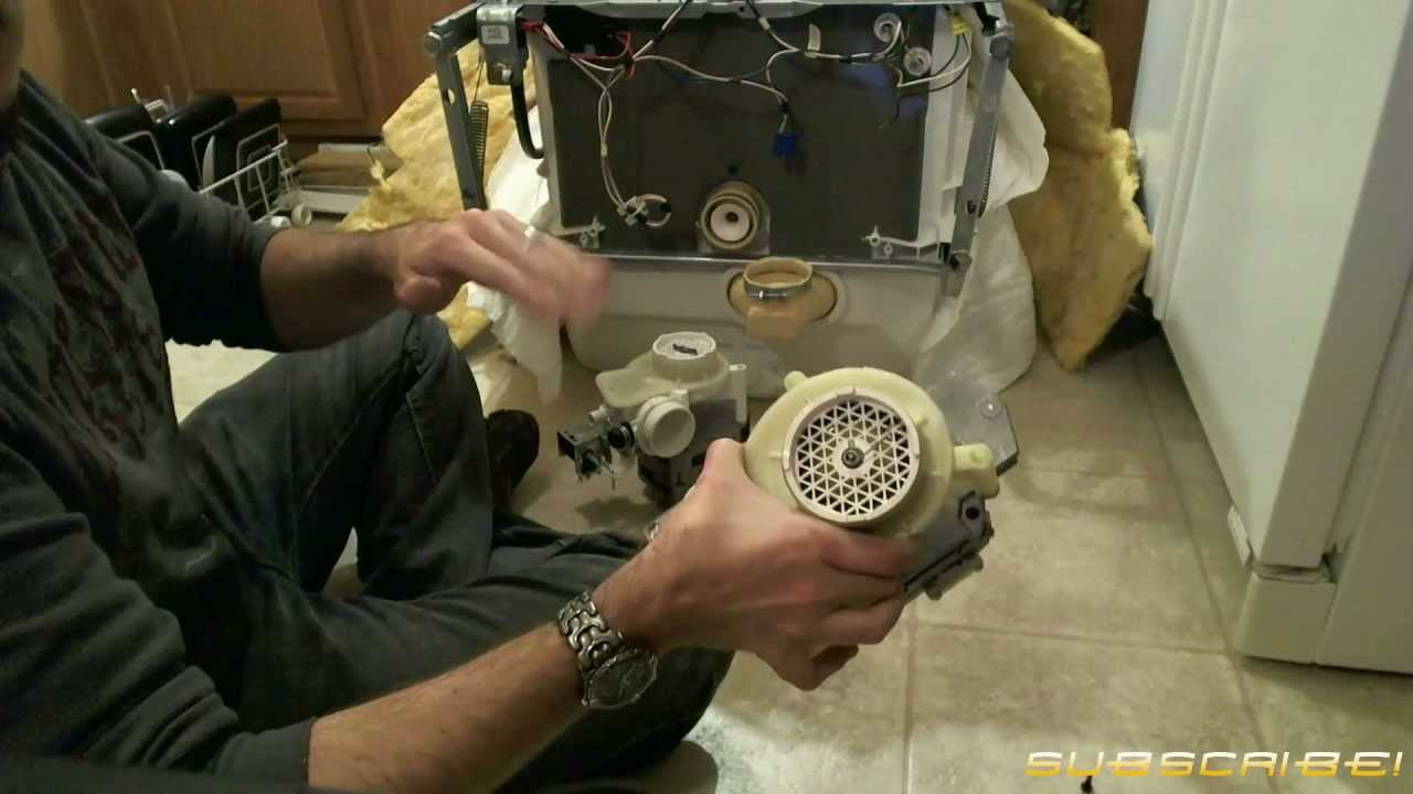 How To Fix Replace A Dishwasher Motor Pump Assembly Youtube