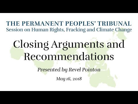 Closing Arguments & Recommendations: Permanent Peoples' Tribunal