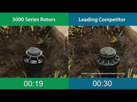 Rain Bird 5000 Series Rotors: Speed Of Installation