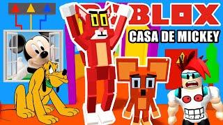 Kitty en Casa de Mickey Mouse | El Gato Malo de Roblox | Juegos Roblox en Español