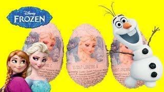 Disney Frozen Chocolate Surprise Eggs Queen Elsa Princess Anna Olaf