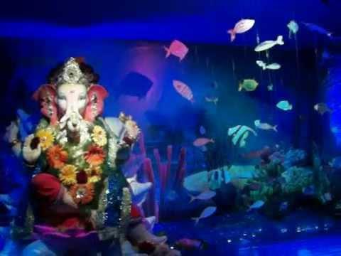 Aquarium Ganpati Decoration At Home Rahul Gorule Youtube