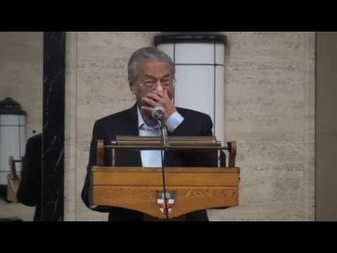 Dr  Mahathir In London. Malaysia in the world today.