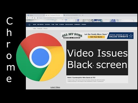 Chrome Won't Play Videos (black Screen) On NFL Team Sites