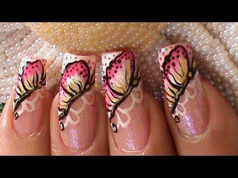 paint stroke butterfly