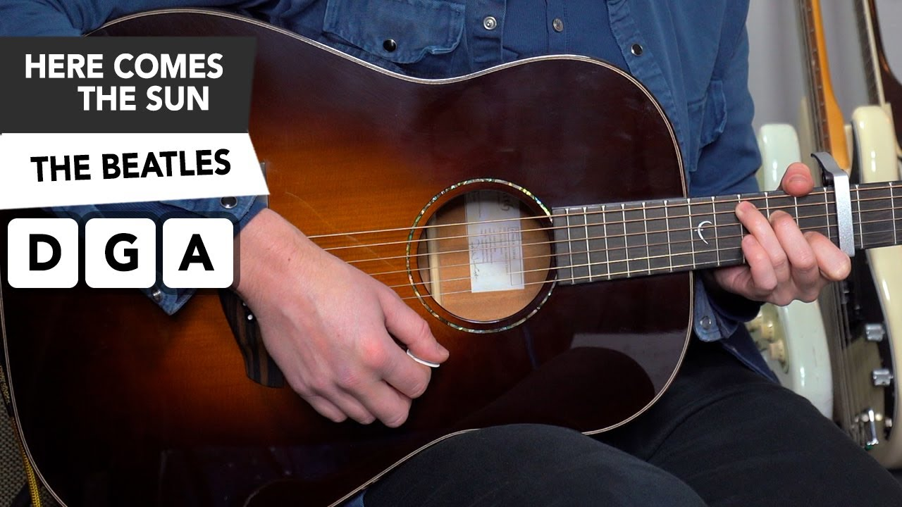 Here Comes The Sun The Beatles Acoustic Guitar Lesson Tutorial
